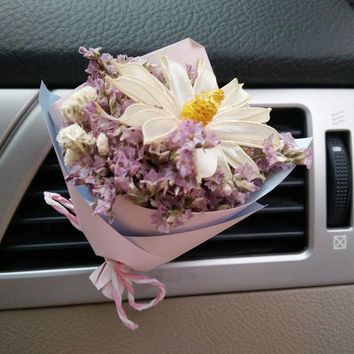 Fashion Car Flora Air Freshener Vent Clips, Dry Flower Interior Car Accessory, Air Vent Bling Car Accessories