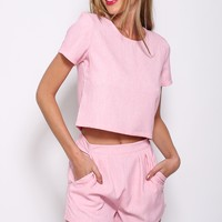 Best Of Friends Shorts Pink