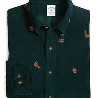 Slim Fit Fly Fishing Embroidered Sport Shirt - Brooks Brothers