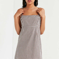 Cooperative Straight Neck Gingham Dress | Urban Outfitters