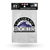 Colorado Rockies Die Cut Static Cling with logo cut out