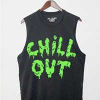 CHILL OUT Unisex Muscle Tee