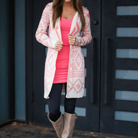 Crazy For You Cardigan, Coral