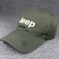 Army Green Color Unisex JEEP Embroidered Baseball Cap Hat