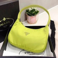 PRADA Retro Hobo-Underarm Bag-Leisure-Crescent Crossbody
