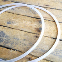 UV Polypro Twin Minis Hula Hoops - Collapsible/ Standard Clear Polypro Hula Hoops - Convertible