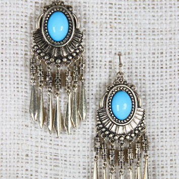 Boho Oval Chandelier Earrings