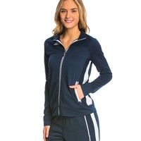 Adidas Women's Solid Warm Up Jacket at SwimOutlet.com - Free Shipping