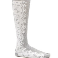 With Love From CA Lace Printed Knee High Socks at PacSun.com