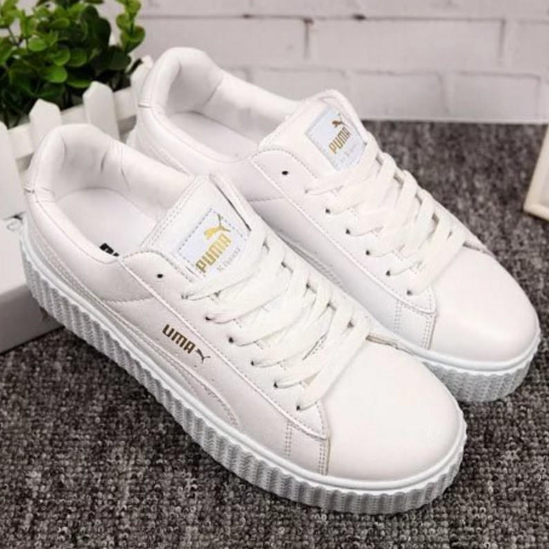 Image of PUMA Women Casual Running Sport Shoes Sneakers White