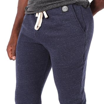 Navy Blue Marled Jogger Sweatpants - Made in USA