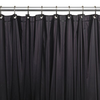 Carnation Home Fashions USC-4-16 4 Gauge Vinyl Shower Curtain Liner, Black