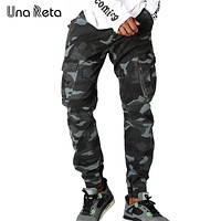Una Reta New Streetwear Camouflage Mens Pants Fashion Casual Autumn Pencil Pants Street style Hip Hop Mens Jogger Trousers