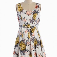 floral memoirs pleated bow dress at ShopRuche.com
