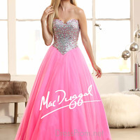 Strapless Sweetheart Prom Ball Gown By Mac Duggal 40397H