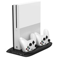New Vertical Stand Cooling Fan with Dual Controller Charging Station and 4 Ports USB Hub for Microsoft Xbox One S