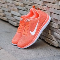 NIKE Trending Fashion Casual Sports Shoes Orange-2