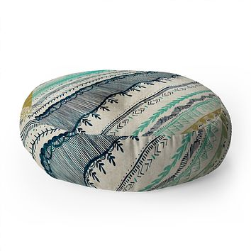 RosebudStudio Boho Fall Floor Pillow Round