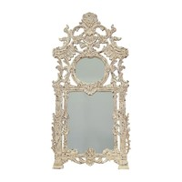 Two Connection Mirror Signature Antique White