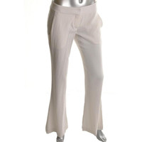 Theory Womens Jeldra Wool Flat Front Dress Pants