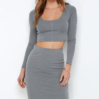 Love On Top Grey Two-Piece Dress
