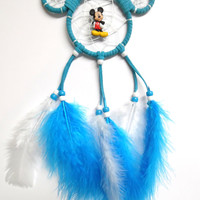 Disney Mickey Mouse dream catcher- small, turquoise car dream catcher