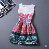 NEW 2015 SUMMER STYLE WHITE VINTAGE PRINTING FOR WOMEN PARTY SEXY CLUB DRESSES CHEAP CLOTHES CHINA BEACH BODYCON DRESS FEMALE