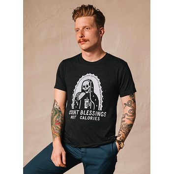 Count Blessings Not Calories Tee