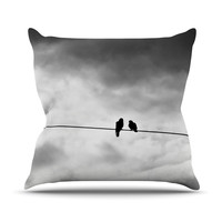 "Debbra Obertanec ""Friendship"" Black White Throw Pillow"