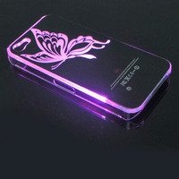 Bestgoods — LED Butterfly Shining  When Phone Call Nice Hard Cover Case ForIphone 4/4s/5