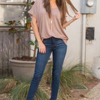 On The Go Tee, Taupe