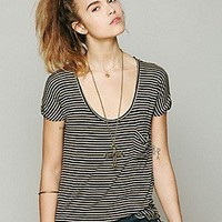 Free People  We The Free Retro Stripe Tee at Free People Clothing Boutique