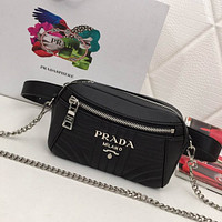 prada women leather shoulder bag shopping satchel prada tote bag handbag 102