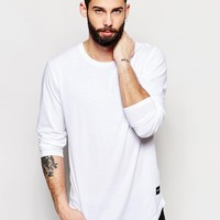 Only & Sons Longline Long Sleeve Top at asos.com