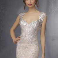 Sticks & Stones by Mori Lee 9288 Sparkling Sequin Tight Dress