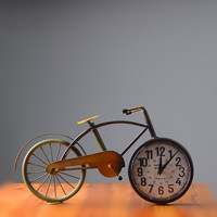 Home Decor Decoration Accessory Metal Vintage Bicyclex Clock [6283011590]