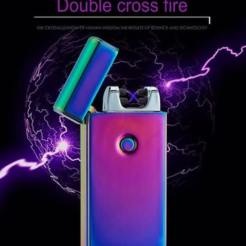 USB Ultra Thin Electronic-Windproof-Flameless Lighter