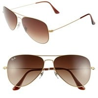 Women's Ray-Ban 58mm Steel Aviator Sunglasses