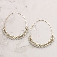 Isca Hoops by Anthropologie Mint One Size Jewelry