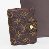 LV Louis Vuitton New Printed Letter Button Card Holder Clutch Bag