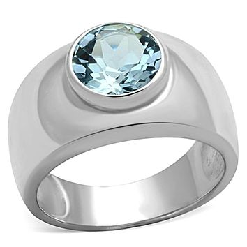 Silver Wedding Rings LOS743 Silver 925 Sterling Silver Ring with Synthetic