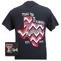 New Texas Tech Red Raiders Chevron State EST. 1923 Girlie Bright T Shirt