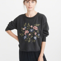 Womens Embroidered Crew | Womens New Arrivals | Abercrombie.com