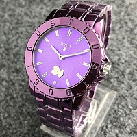 TOUS Fashion Women Men Quartz Classic Wristwatch Watch Purple