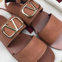 Valentino Fashion Leather Sandals