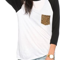Empyre Indira Cheetah Pocket Baseball Tee