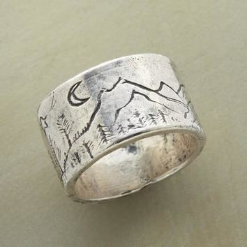 Jes MaHarry Etched Silver Band Ring | Robert Redford's Sundance Catalog