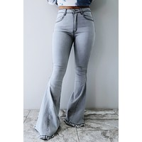 It's The Weekend Flare Jeans: Grey