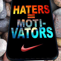 Nike Haters Motivation Nebula Galaxy for iPhone 4/4s, iPhone 5/5S/5C/6, Samsung S3/S4/S5 Unique Case *76*