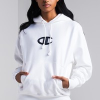 Champion Reverse Weave Stitched C Logo Women's Hoodie in White